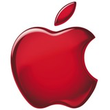 Apple Logo - Red - wo background